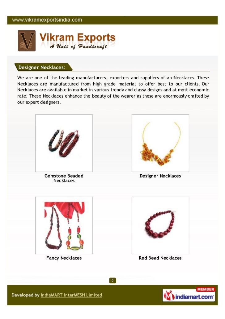 Designer Necklaces:We are one of the leading manufacturers, exporters and suppliers of an Necklaces. TheseNecklaces are ma...