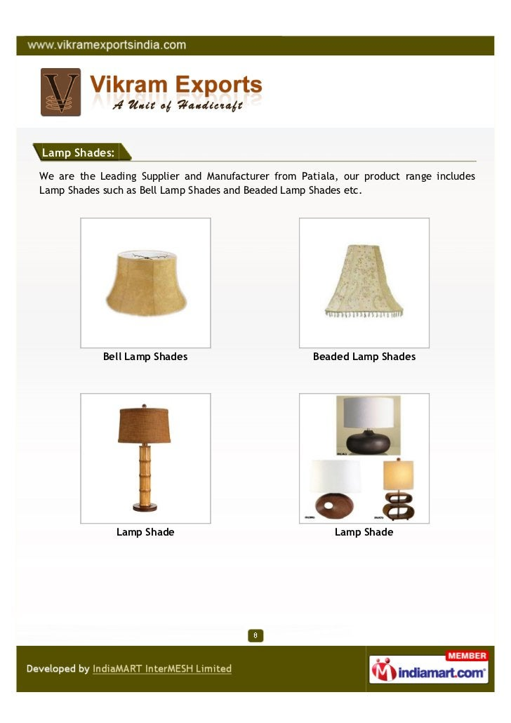 Lamp Shades:We are the Leading Supplier and Manufacturer from Patiala, our product range includesLamp Shades such as Bell ...