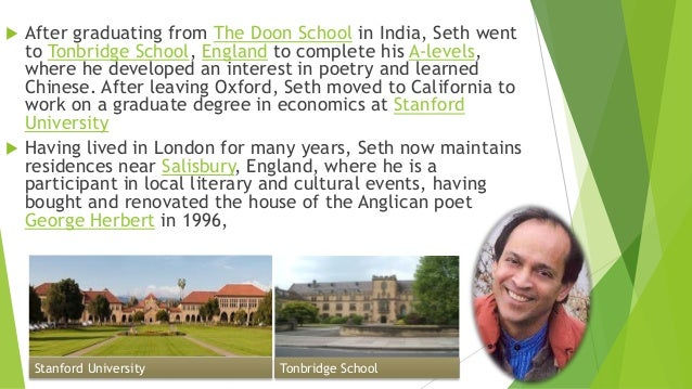 poems of vikram seth with summary
