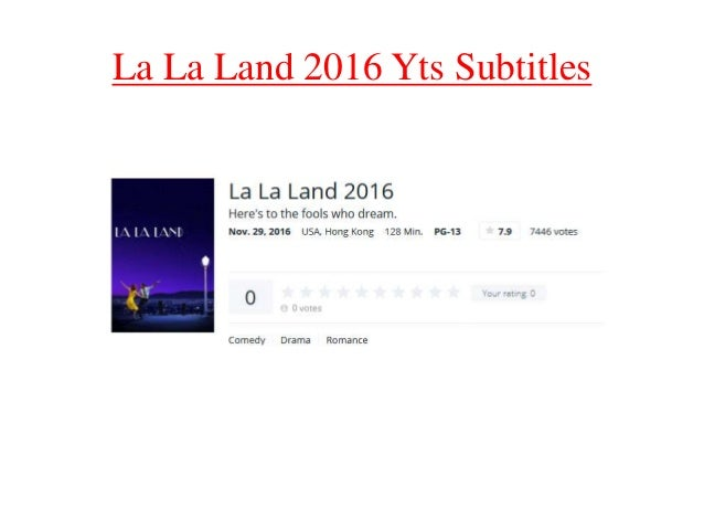 la la land subtitles english yts