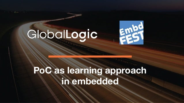 PoC as learning approach in embedded 1