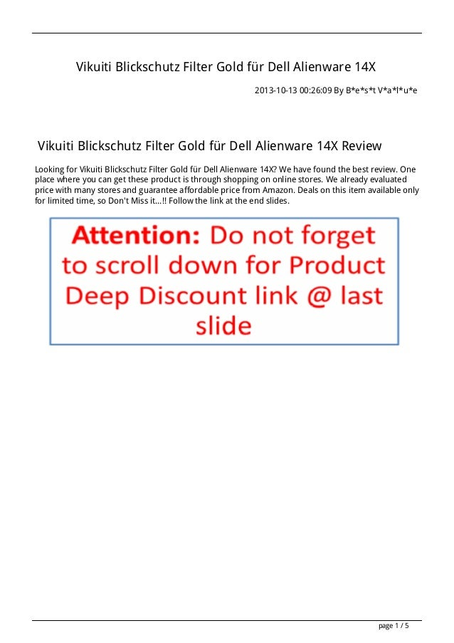 Vikuiti Blickschutz Filter Gold für Dell Alienware 14X 2013-10-13 00:26:09 By B*e*s*t V*a*l*u*e  Vikuiti Blickschutz Filte...