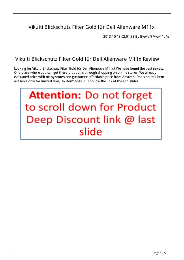Vikuiti Blickschutz Filter Gold für Dell Alienware M11x 2013-10-13 02:01:58 By B*e*s*t V*a*l*u*e  Vikuiti Blickschutz Filt...
