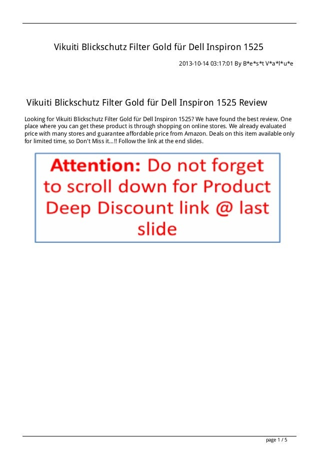 Vikuiti Blickschutz Filter Gold für Dell Inspiron 1525 2013-10-14 03:17:01 By B*e*s*t V*a*l*u*e  Vikuiti Blickschutz Filte...