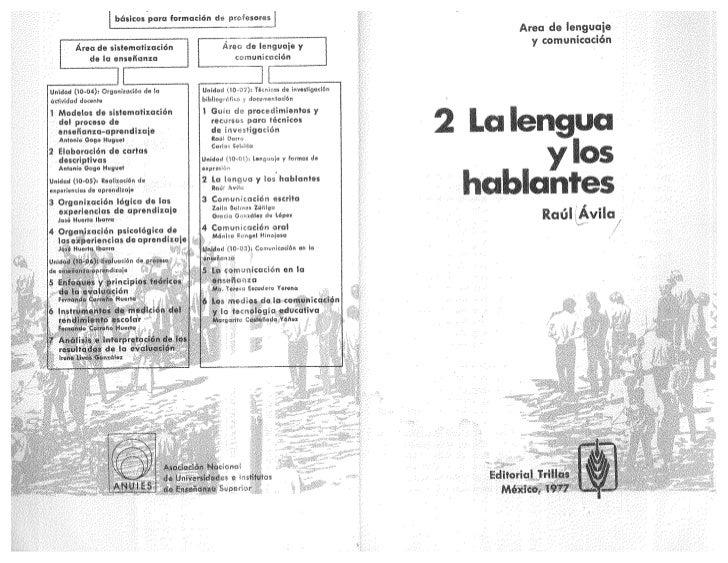 Unidad I La lengua y los hablantes