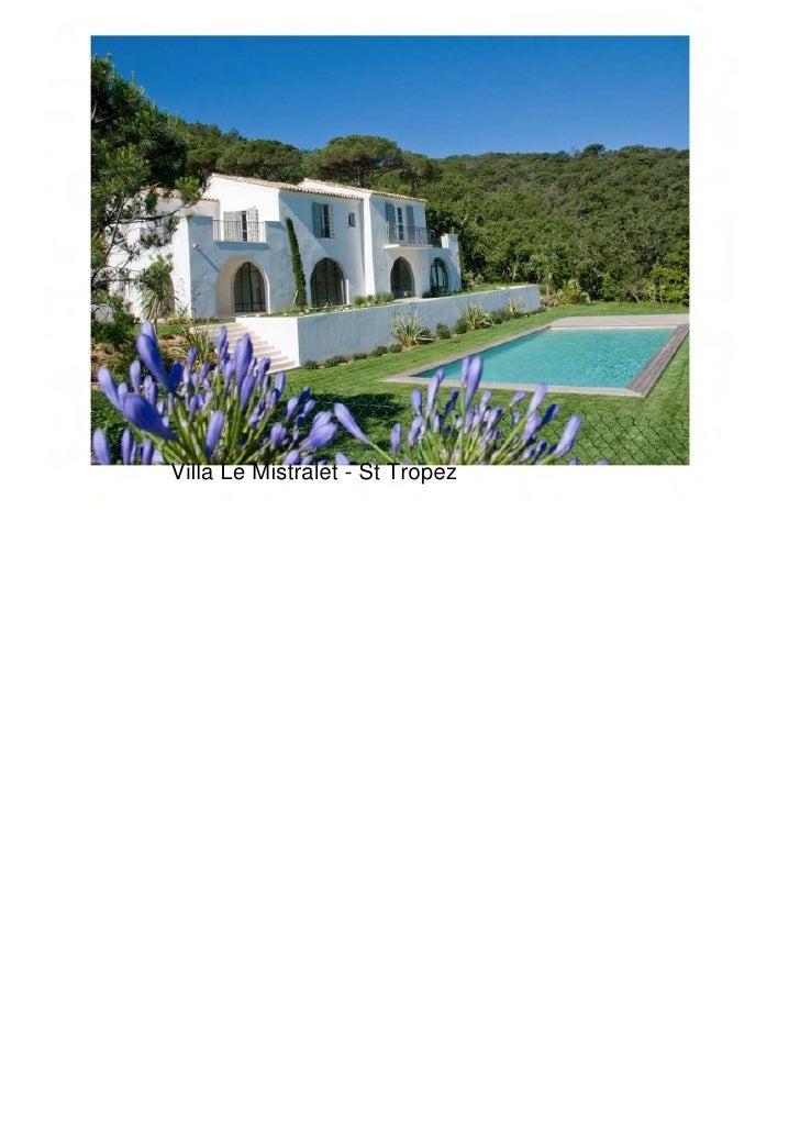 Villa Le Mistralet - St Tropez