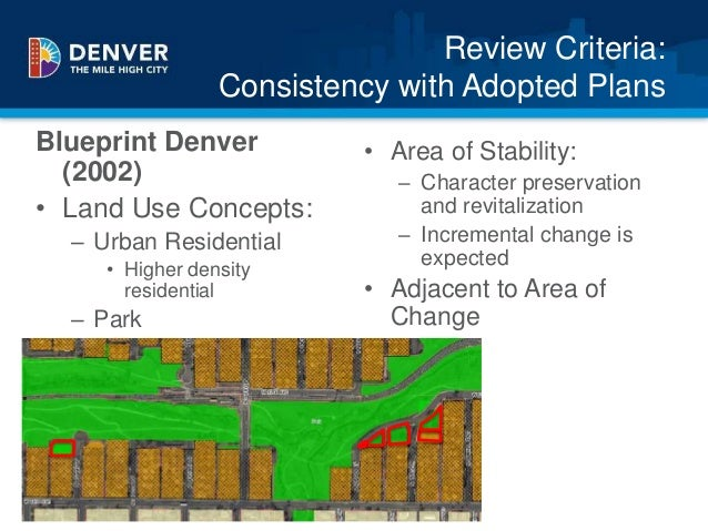 Villa park pre application presentation 13 review criteria consistency with adopted plans blueprint denver malvernweather Image collections