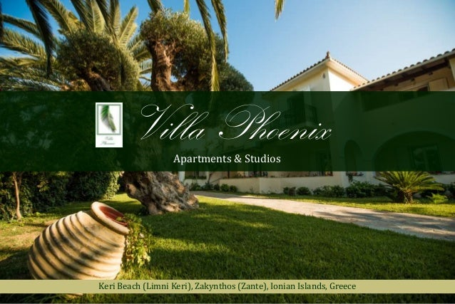 Villa Phoenix Apartments & Studios  Keri Beach (Limni Keri), Zakynthos (Zante), Ionian Islands, Greece