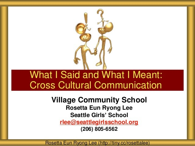 Village Community School Rosetta Eun Ryong Lee Seattle Girls' School rlee@seattlegirlsschool.org (206) 805-6562 What I Sai...