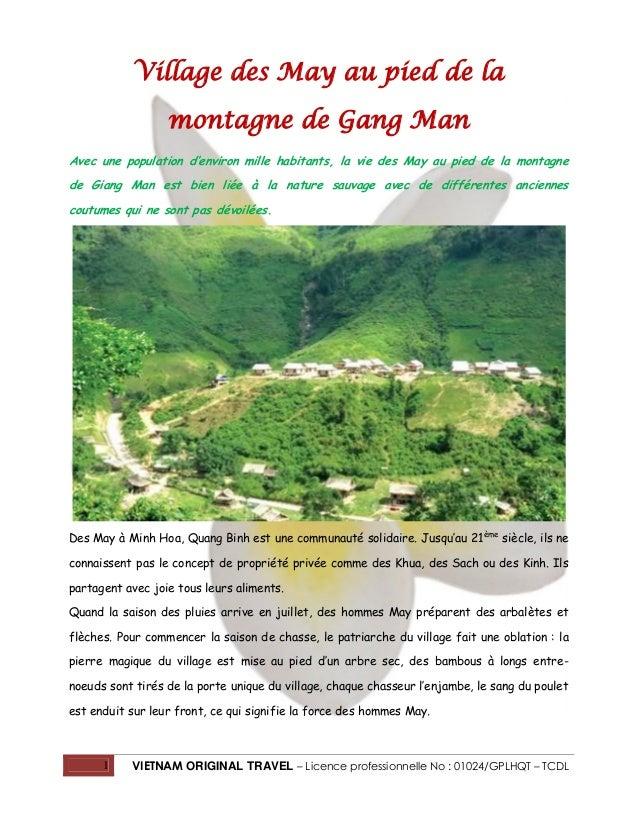Village des May au pied de la montagne de Gang Man Avec une population d'environ mille habitants, la vie des May au pied d...