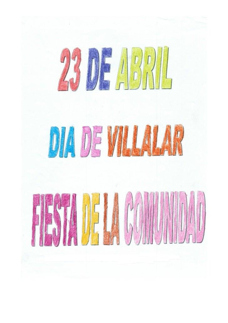 23 de abril. Día de Villalar-Fiesta de nuestra comunidad
