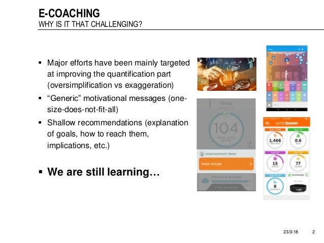 Automatic mapping of motivational text messages into ontological entities for smart coaching applications Slide 2