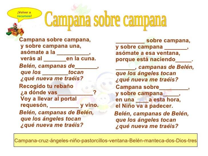 Imagenes De Villancicos Campana Sobre Campana.Villancicos De Navidad Con Letra Campana Sobre Campana
