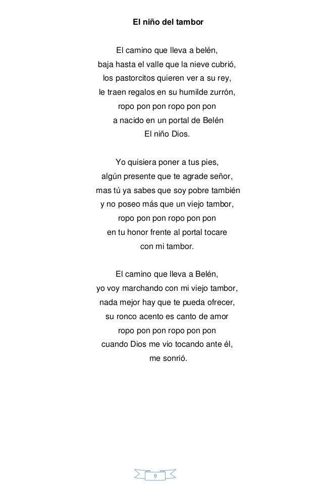 Letra De Cancion El Niño Del Tambor Hay Niños