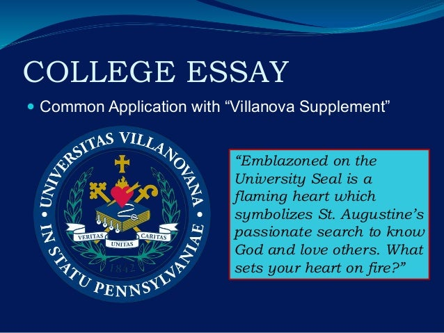 Villanova supplement essay