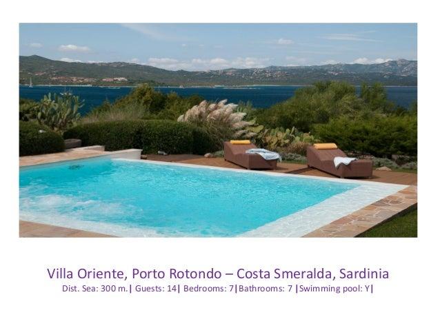 Villa Oriente, Porto Rotondo – Costa Smeralda, Sardinia Dist. Sea: 300 m.| Guests: 14| Bedrooms: 7|Bathrooms: 7 |Swimming ...