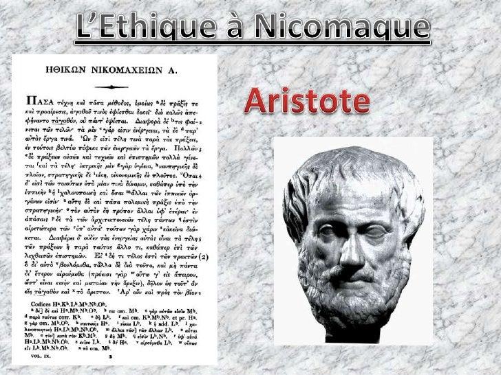 L'Ethique à Nicomaque<br />Aristote<br />