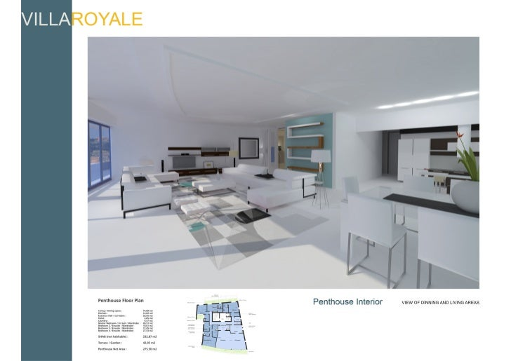 Luxury penthouse floor plans and layout