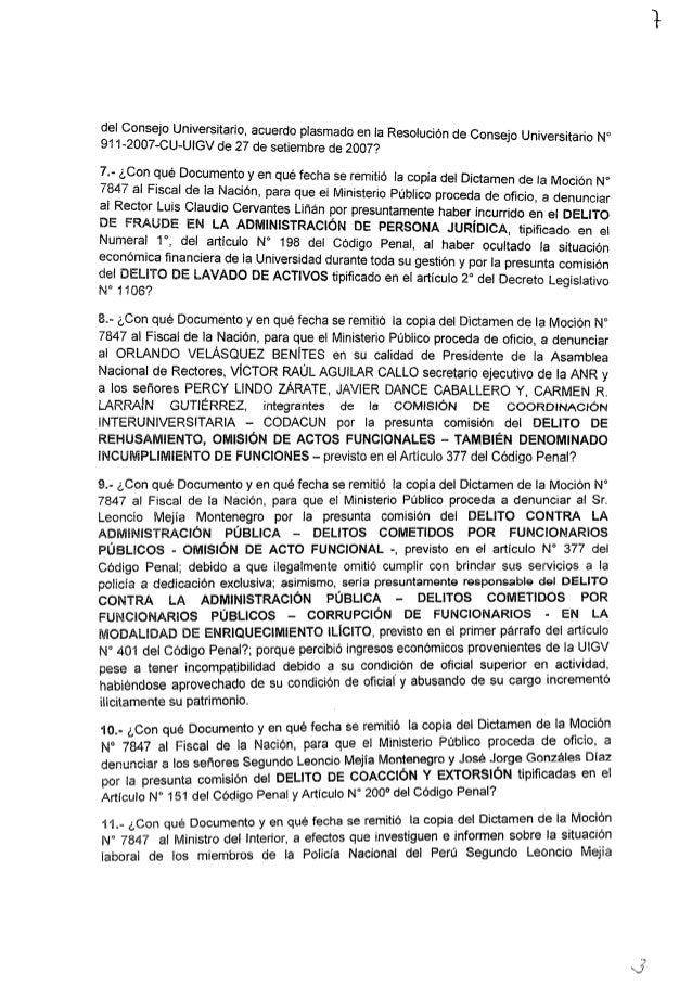 del Consejo Universitario,  acuerdo plasmado en la Resoluci  ' d c ' ' ' - =  91 1-2007-CU—UIGV de 27 de setiembre de 2007...