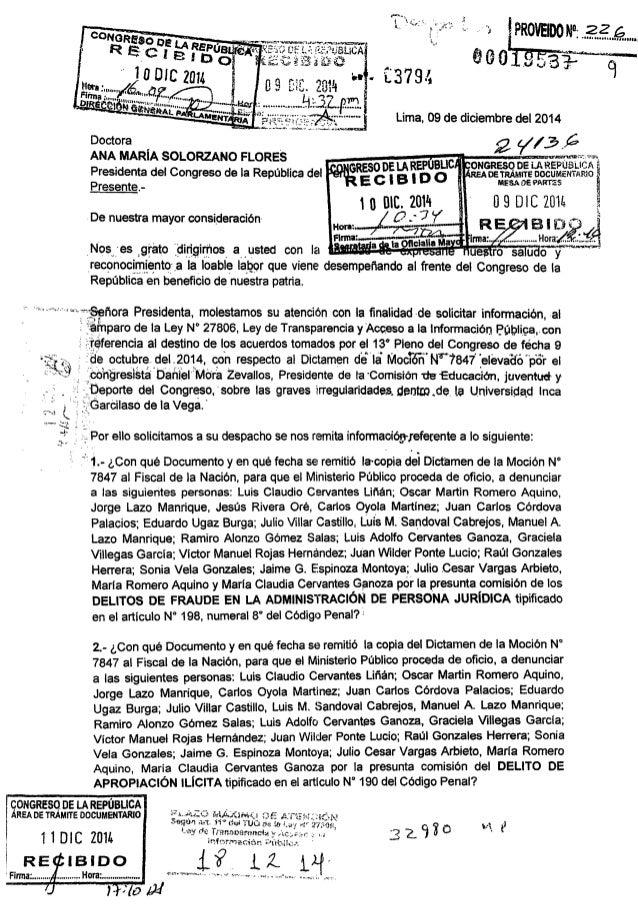 LA REPUBLIC  NcReso '     Presente,  MESA OE PARTES  De nuestra mayor consideración  _Nos__, _'es 'grato ÉÏÍTÏQÍIÏÏIOS' a ...