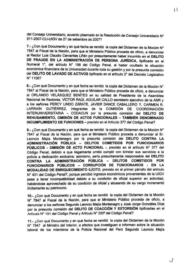 del Consejo Universitario,  acuerdo plasmado en la Resolución de Consejo Universitario N° 911-2007-CU-UlGV de 27 de setiem...
