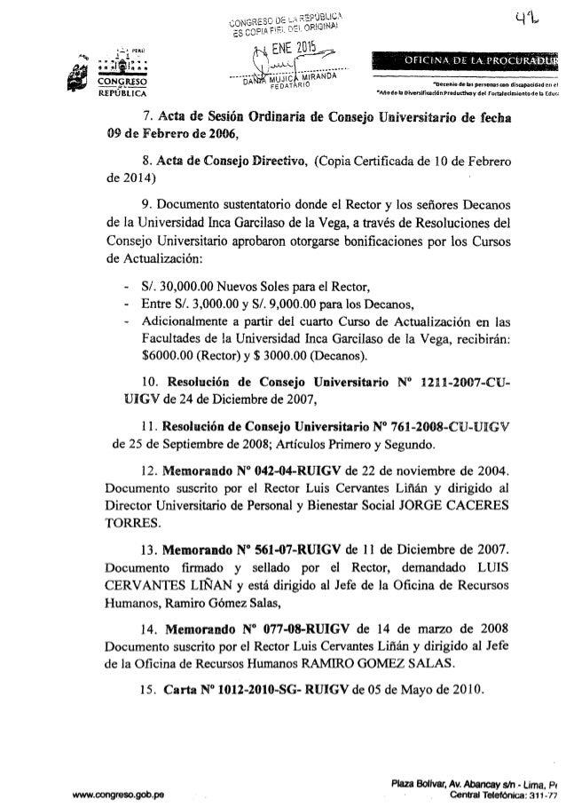wnrwcongresogolmpe     REPÚBLICA  7. Acta de Sesión Ordinaria de Consejo Universitario de fecha 09 de Febrero de 2006,  8....
