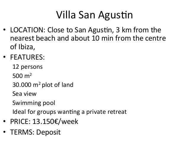 Villa San Agus,n  • LOCATION: Close to San Agus,n, 3 km from the nearest beach and about...