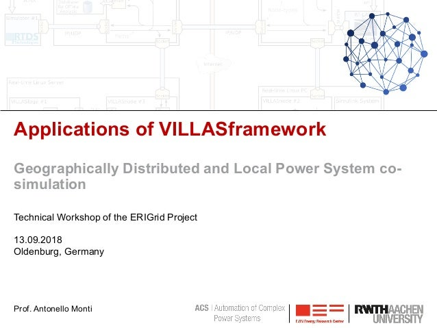 Applications of VILLASframework Geographically Distributed and Local Power System co- simulation Technical Workshop of the...