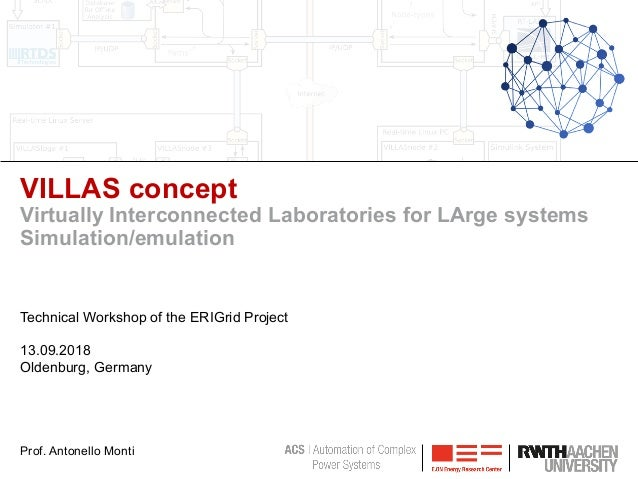 VILLAS concept Virtually Interconnected Laboratories for LArge systems Simulation/emulation Technical Workshop of the ERIG...