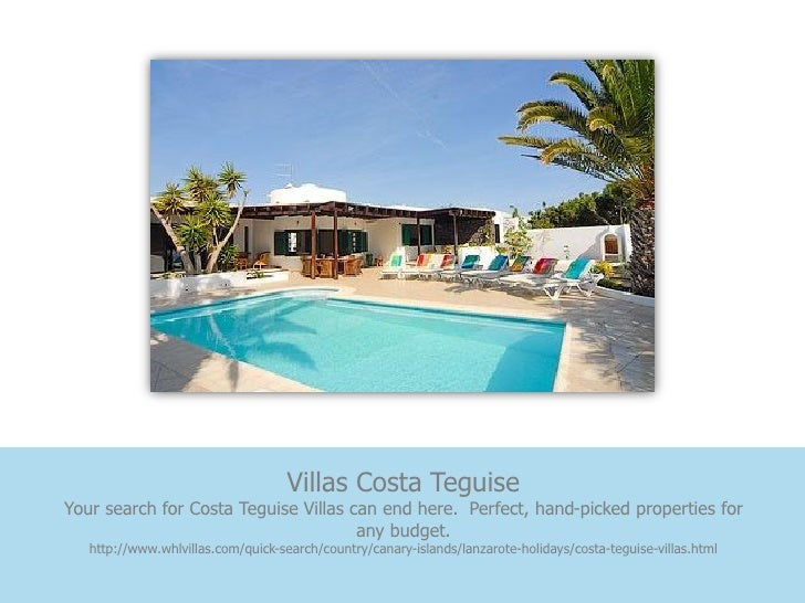 Villas Costa TeguiseYour search for Costa Teguise Villas can end here. Perfect, hand-picked properties for                ...