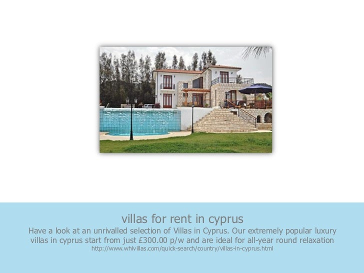 villas for rent in cyprusHave a look at an unrivalled selection of Villas in Cyprus. Our extremely popular luxuryvillas in...