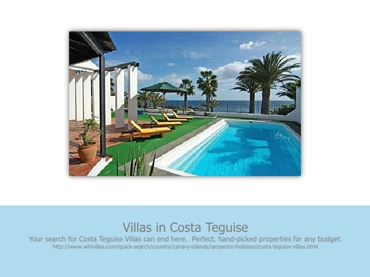 Villas in Costa TeguiseYour search for Costa Teguise Villas can end here. Perfect, hand-picked properties for any budget. ...