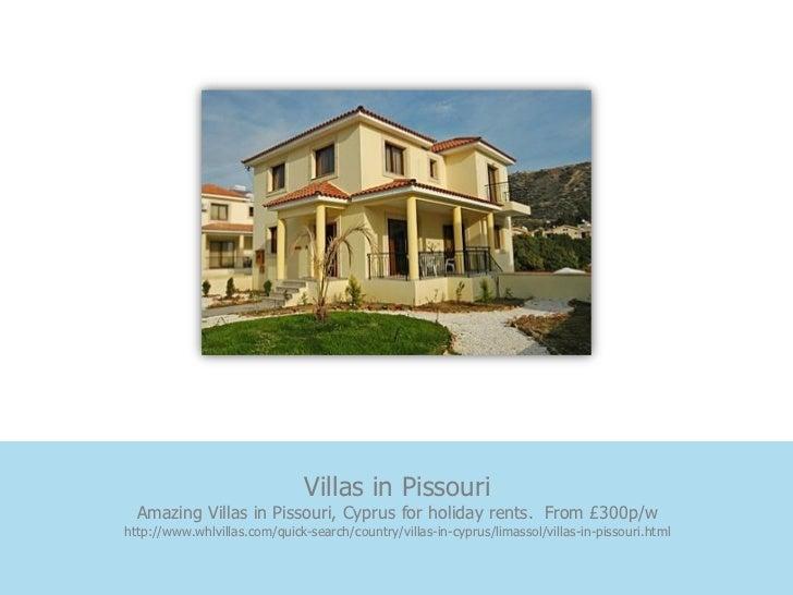 Villas in Pissouri  Amazing Villas in Pissouri, Cyprus for holiday rents. From £300p/whttp://www.whlvillas.com/quick-searc...