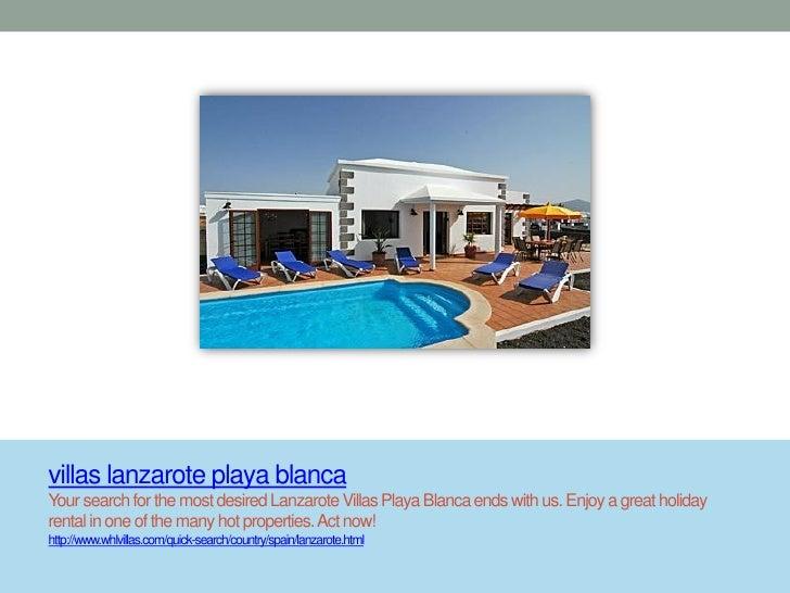 villas lanzarote playa blancaYour search for the most desired Lanzarote Villas Playa Blanca ends with us. Enjoy a great ho...
