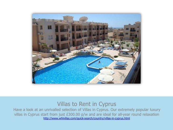 Villas to Rent in CyprusHave a look at an unrivalled selection of Villas in Cyprus. Our extremely popular luxuryvillas in ...