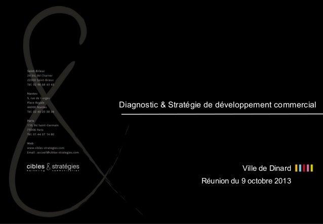 11  Diagnostic & Stratégie de développement commercial  Ville de Dinard Réunion du 9 octobre 2013  Ville de Dinard – Diagn...