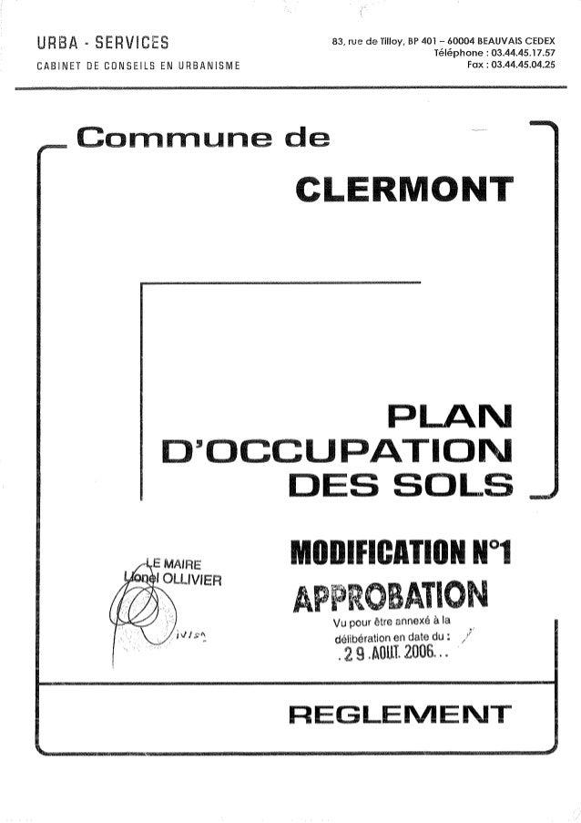 Ville de Clermont de l'Oise - POS - Zone UC