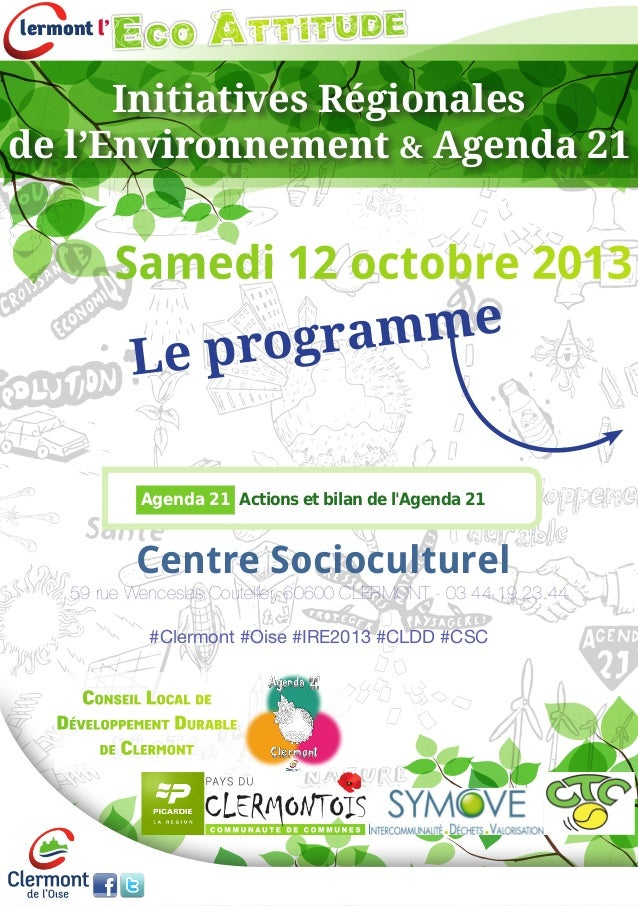 lermont l' EcoAttitude Initiatives Régionales de l'Environnement & Agenda 21 Agenda 21 Actions et bilan de l'Agenda 21 Sa...