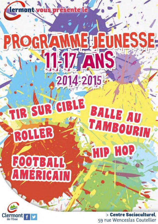 Ville de Clermont - Programme Jeunesse - 11-17 ans - 2014-2015
