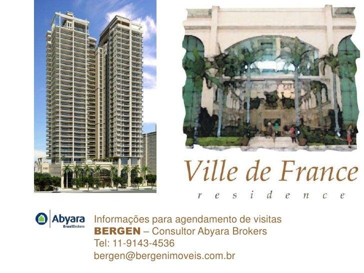 Informações para agendamento de visitasBERGEN – Consultor Abyara BrokersTel: 11-9143-4536bergen@bergenimoveis.com.br