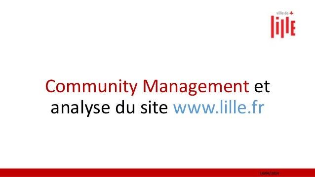 Community Management et analyse du site www.lille.fr 14/04/2014