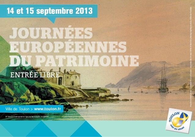 14 et 15 septembre 2013 Ville de Toulon > www.toulon.frwww.toulon.frVille de Toulon > www.toulon.frVille de Toulon >Ville ...