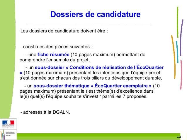 Ville durable plan d 39 action - Dossier candidature location ...