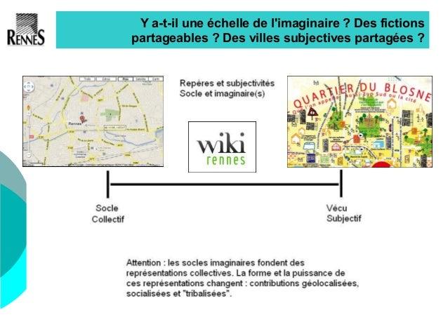 Titre de la présentation 16/XX Y a-t-il une échelle de l'imaginaire ? Des fictions partageables ? Des villes subjectives p...