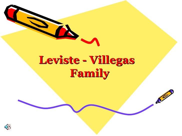 Leviste - Villegas  Family