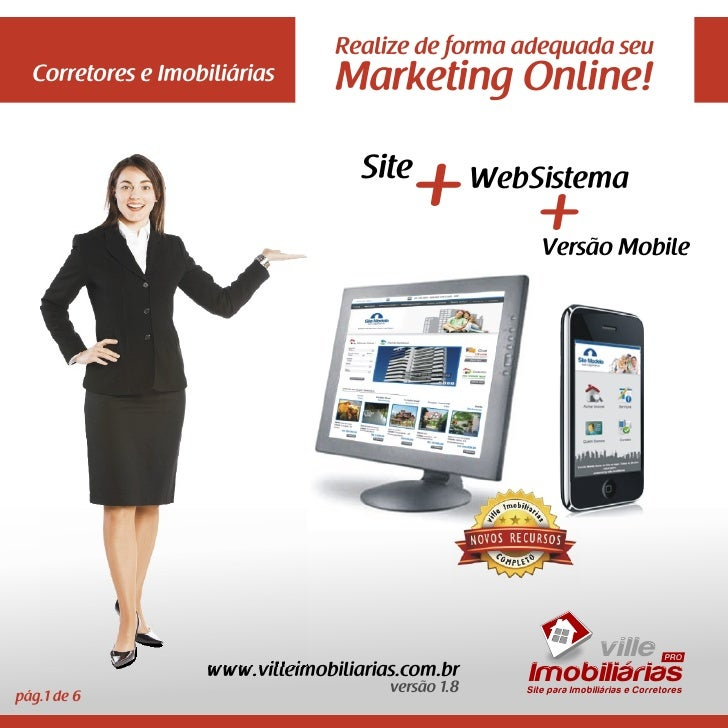 Realize de forma adequada seu  Corretores e Imobiliárias      Marketing Online!                                    Site   ...