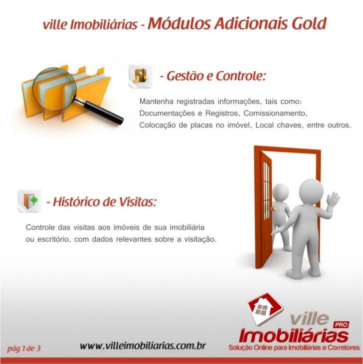 Módulos Adicionais Gold - ville Imobiliárias