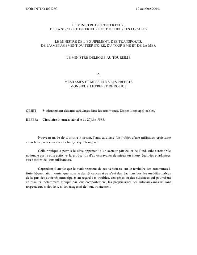 NOR INTDO400I27C  19 octobre 2004.  LE MINISTRE DE L'INTERTEUR, DE LA SECURITE INTERIEURE ET DES LIBERTES LOCALES LE MINIS...