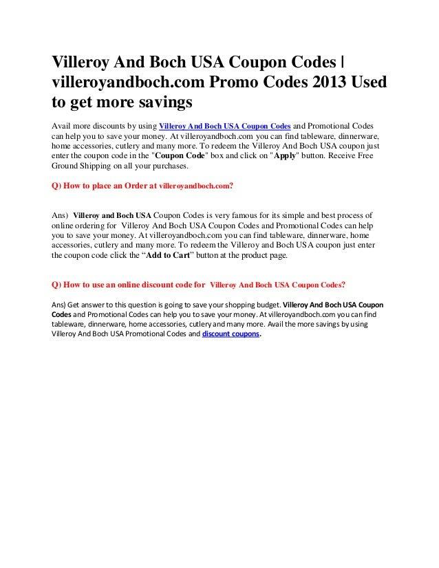 villeroy and coch coupon code. Black Bedroom Furniture Sets. Home Design Ideas