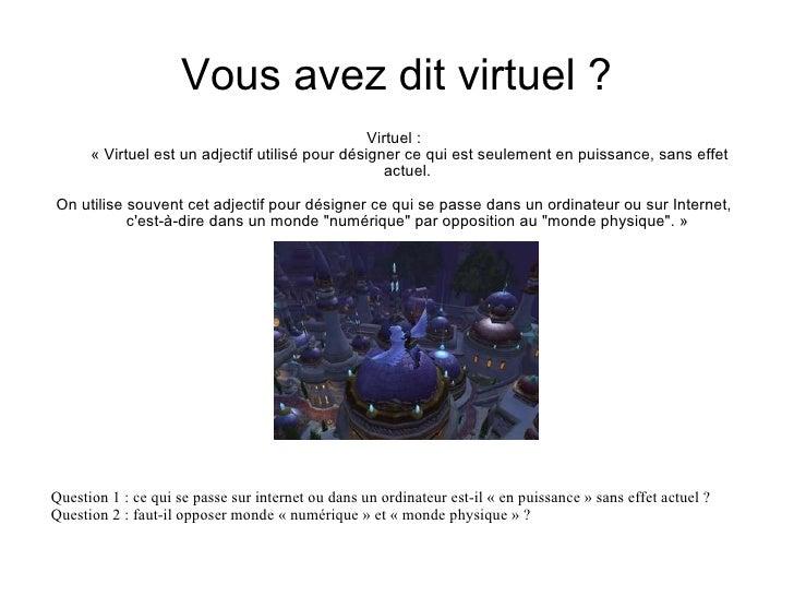 Ville réelle / ville virtuelle Slide 2